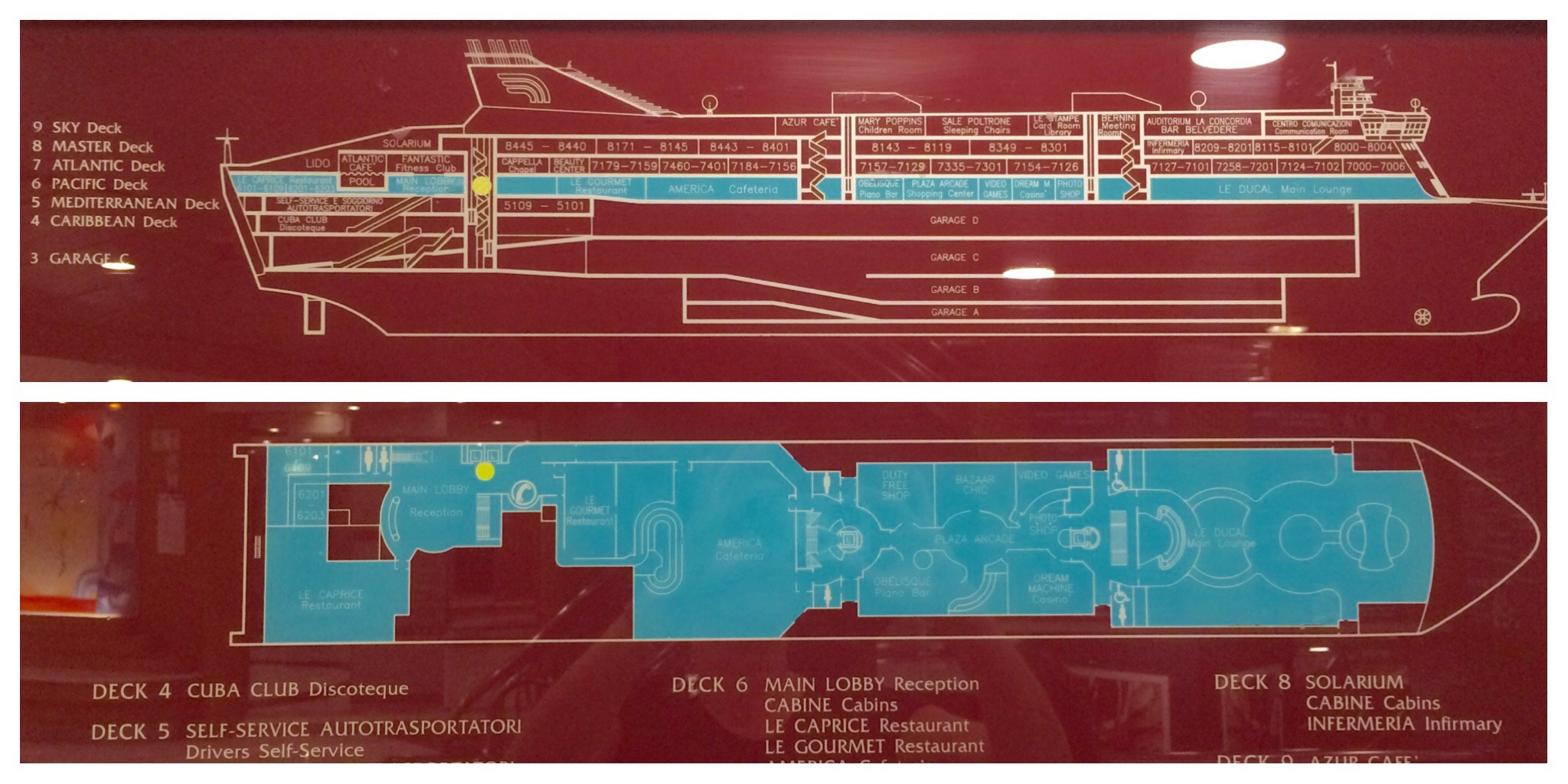 GNV ferry Barcelona to Genoa Deck Plan Fantastic