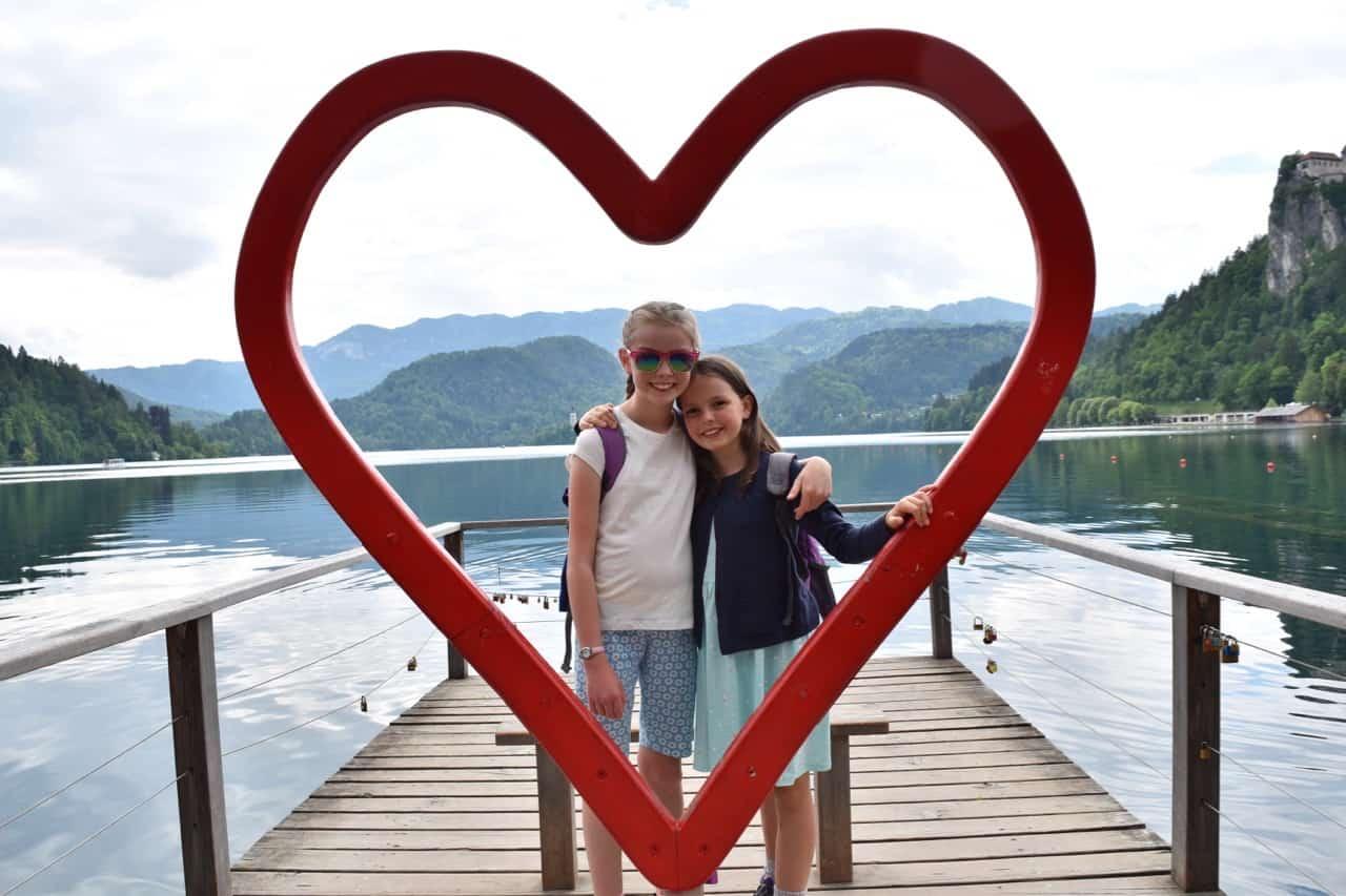 Slovenia Lake Bled heart
