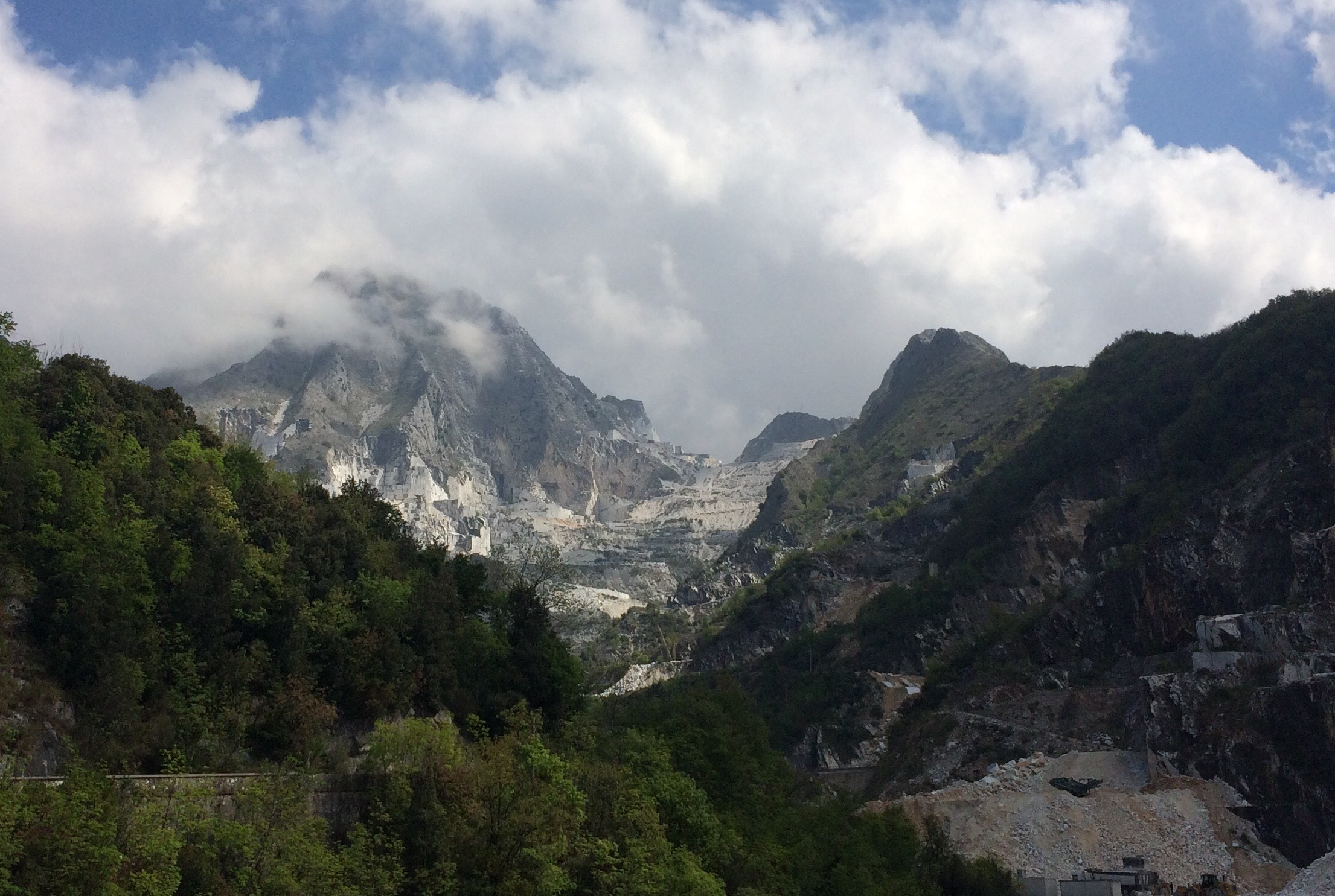 Carrara Marble Quarries open cast Apuan Alps