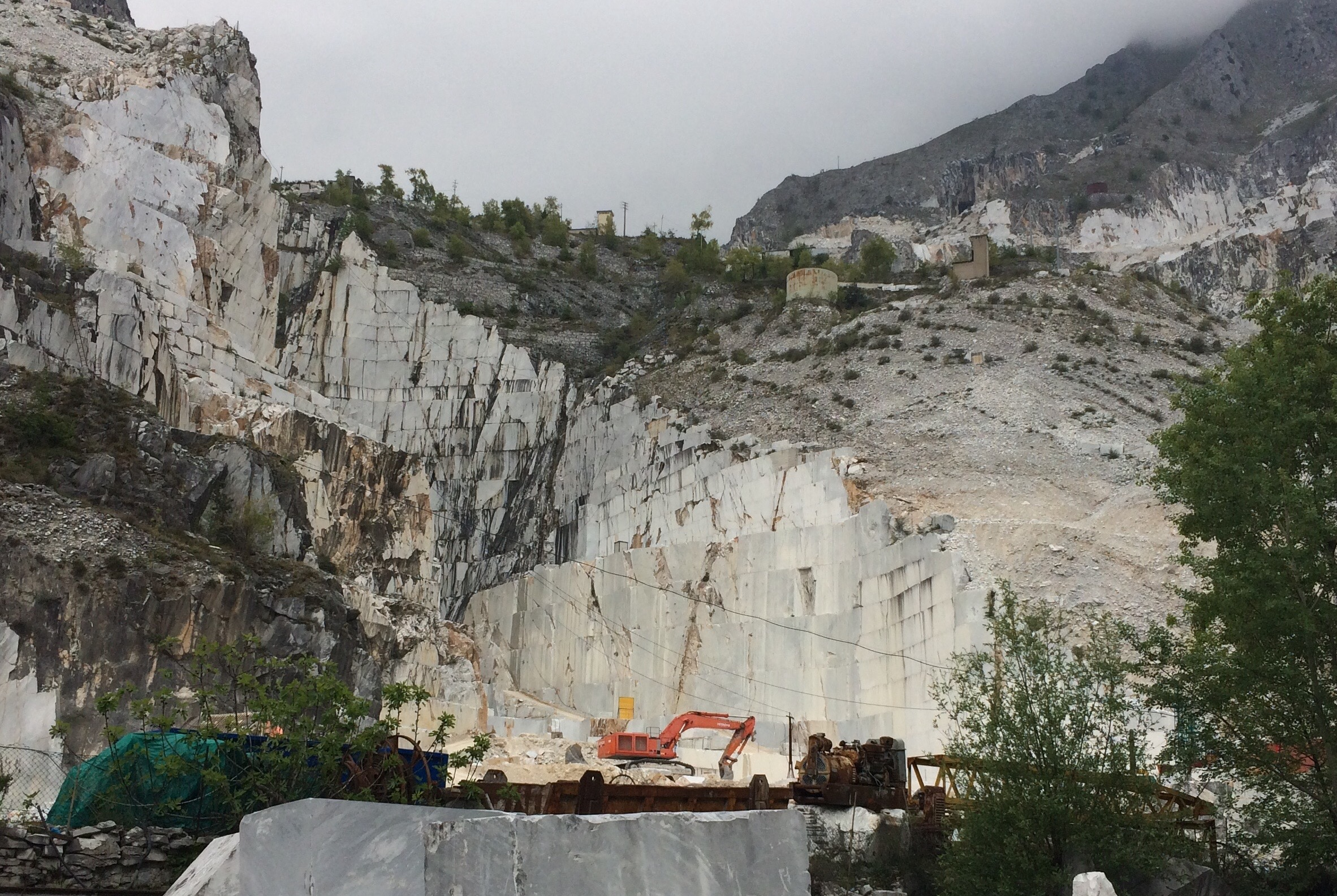 Carrara Marble Quarries Fantiscritti open cast mines