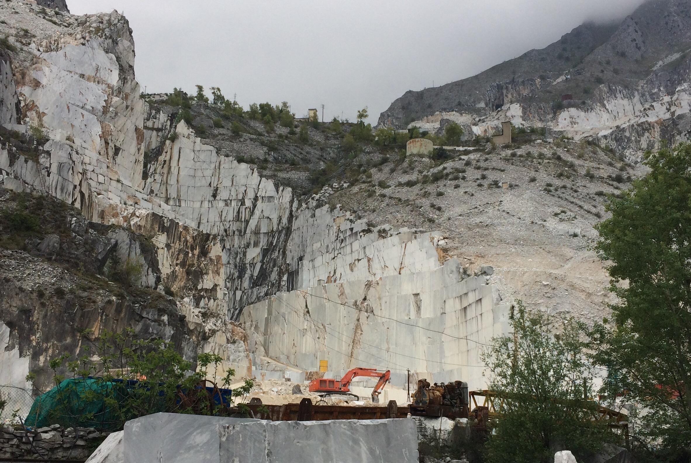 Carrara Marble Quarries Fantiscritti open cast mines