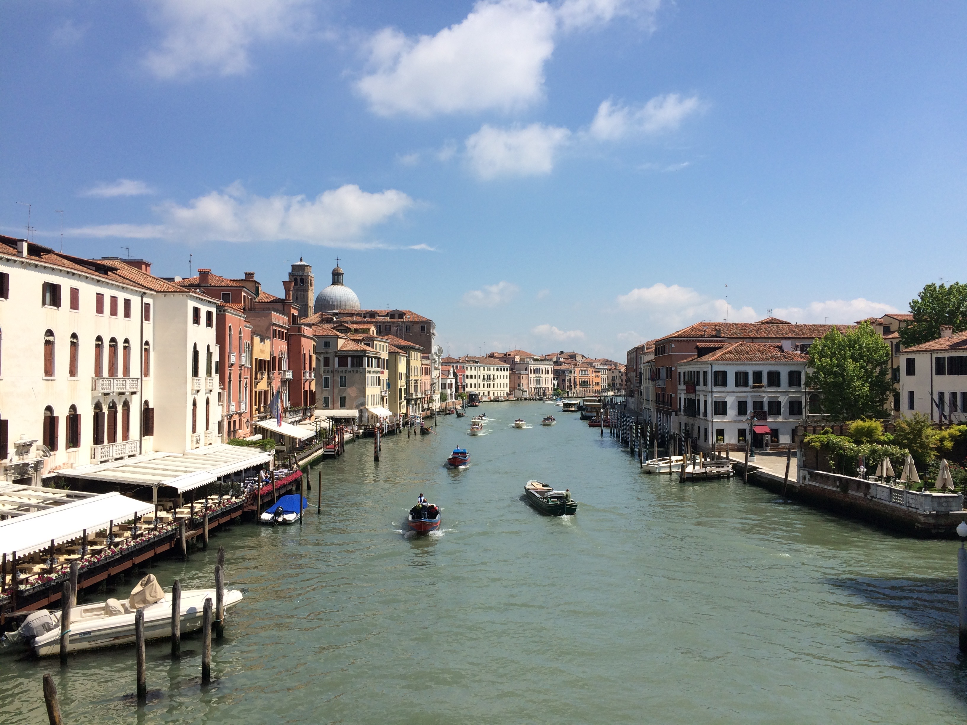 Venice Grand Canal near Piazzale Roma