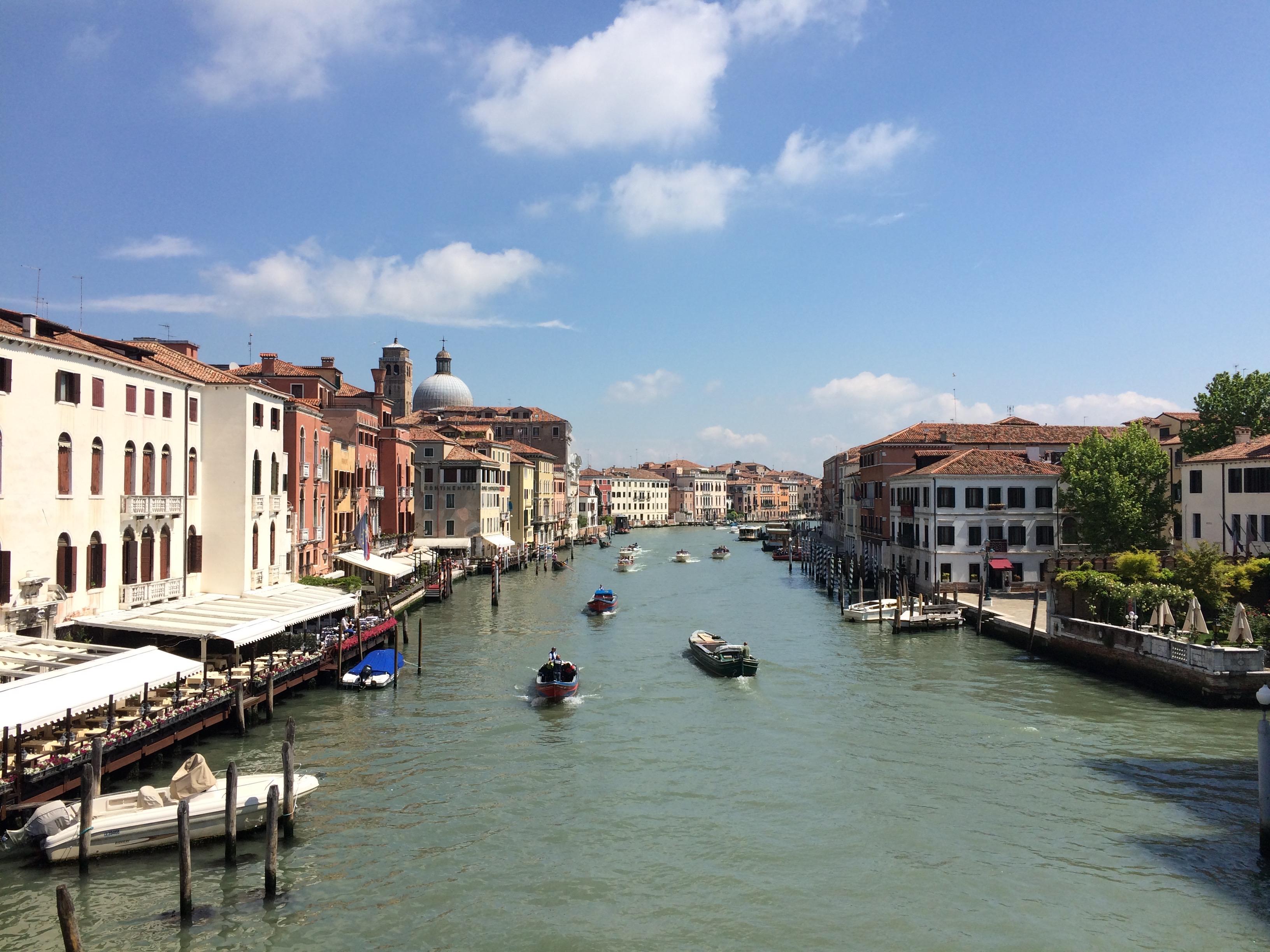 Venice Grand Canal near Piazzale Roma