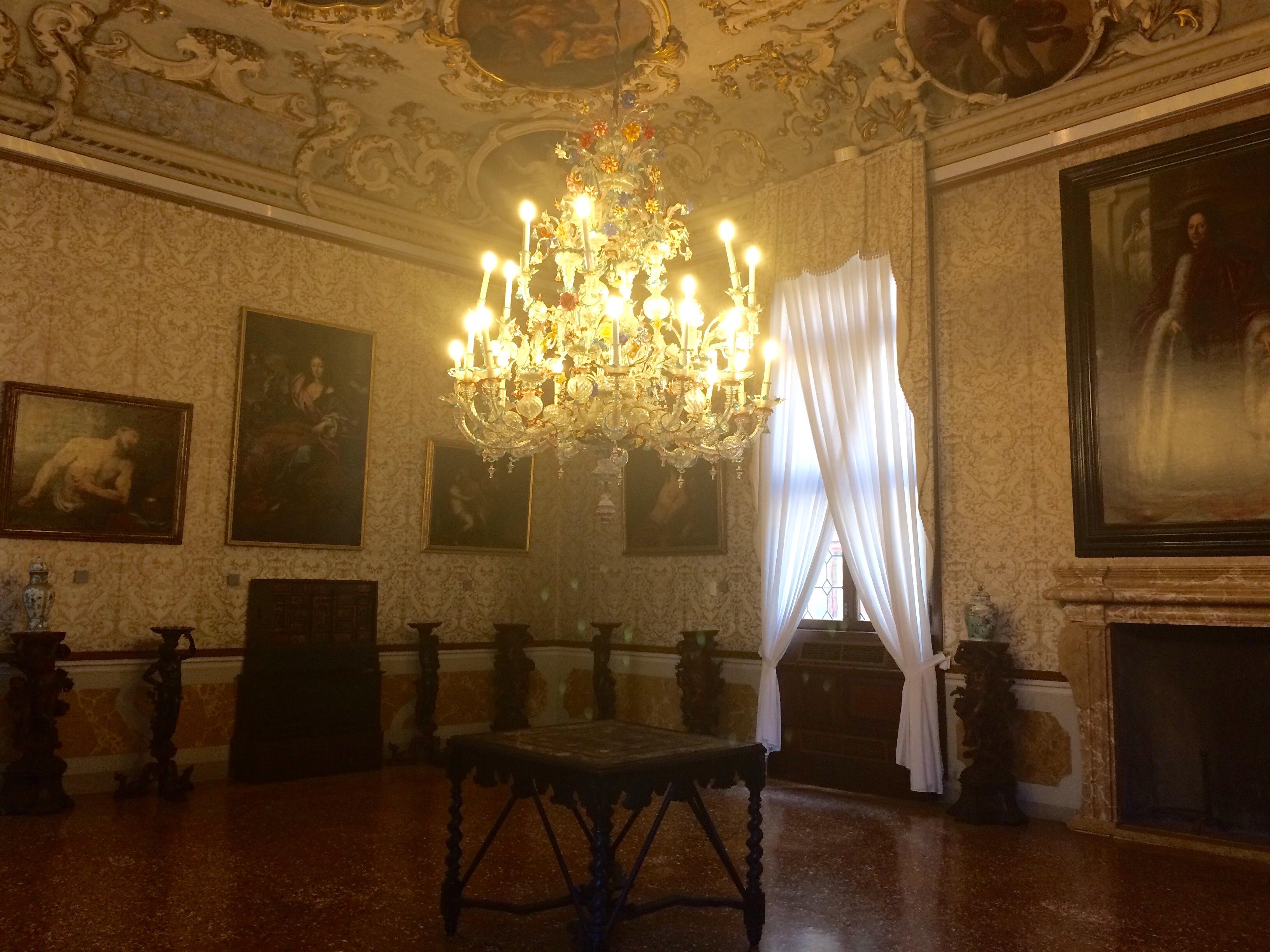 Venice Ca' Rezzonico Brustolon Room chandelier