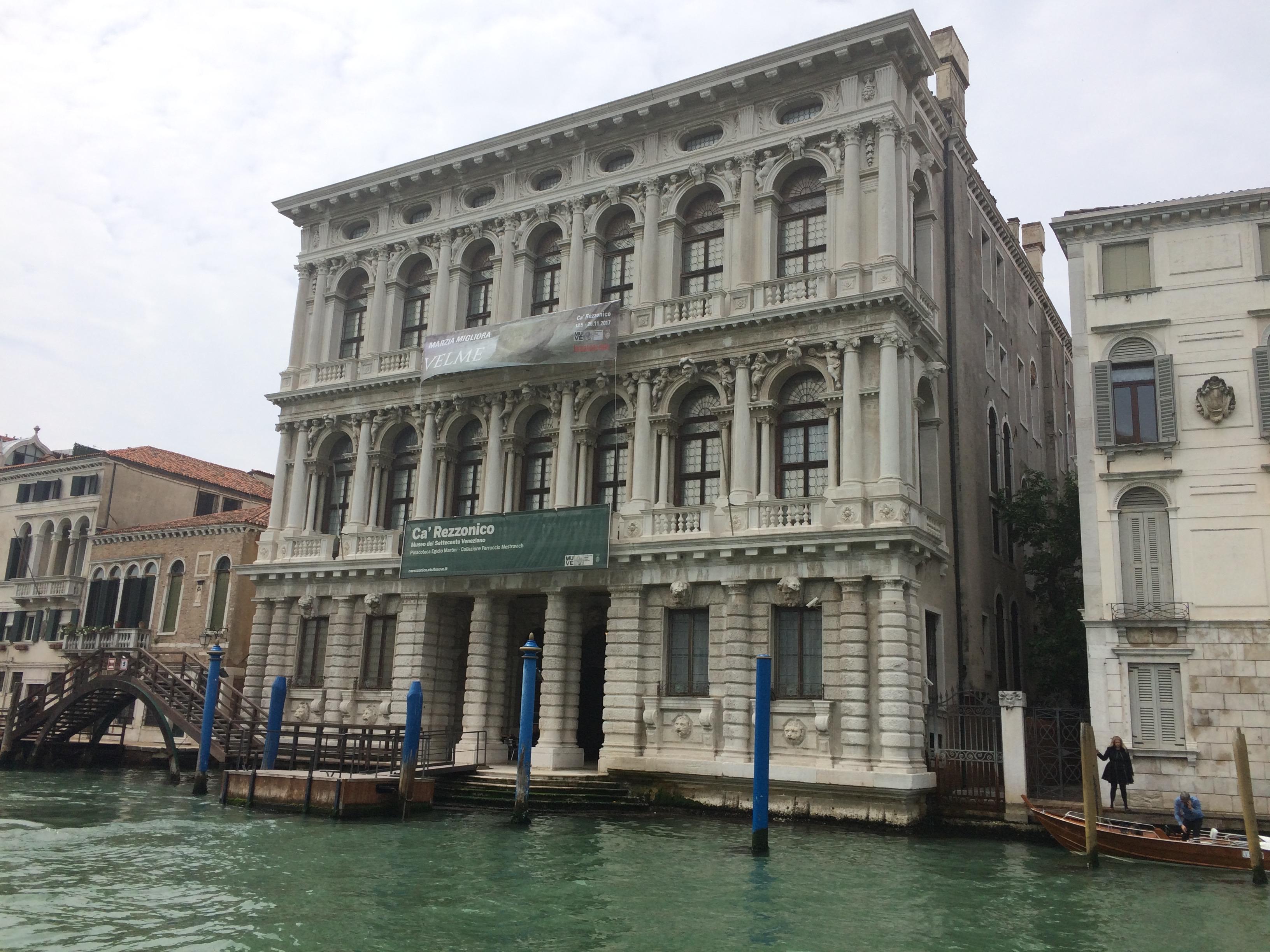 Venice - Ca' Rezzonico exterior