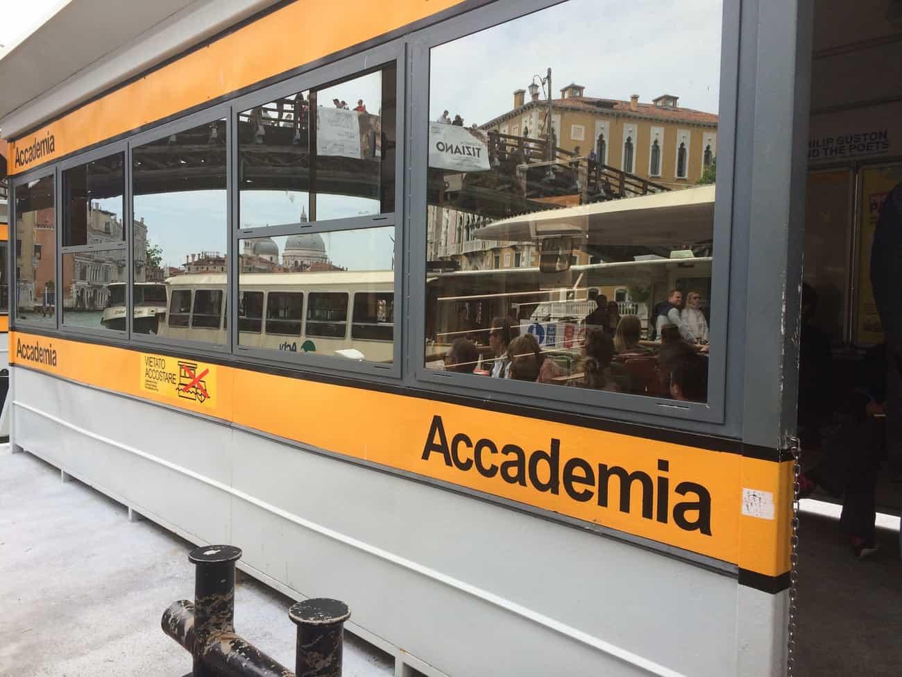 Venice vaporetto stop Accademia