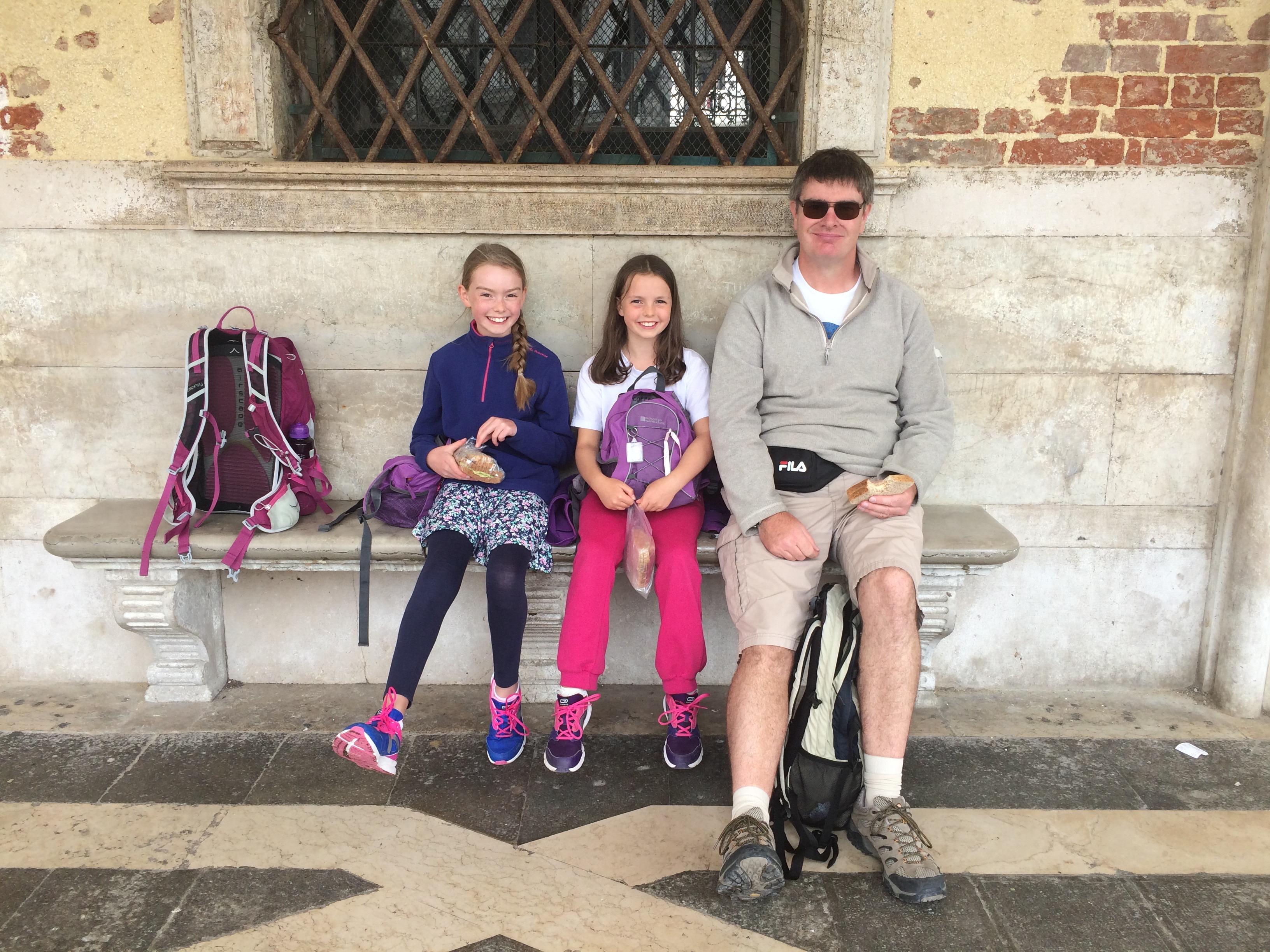 Venice picnic spot Doge's Palace