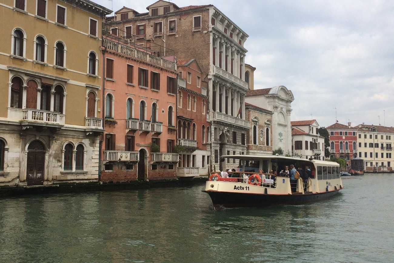 Venice vaporetto on Grand Canal