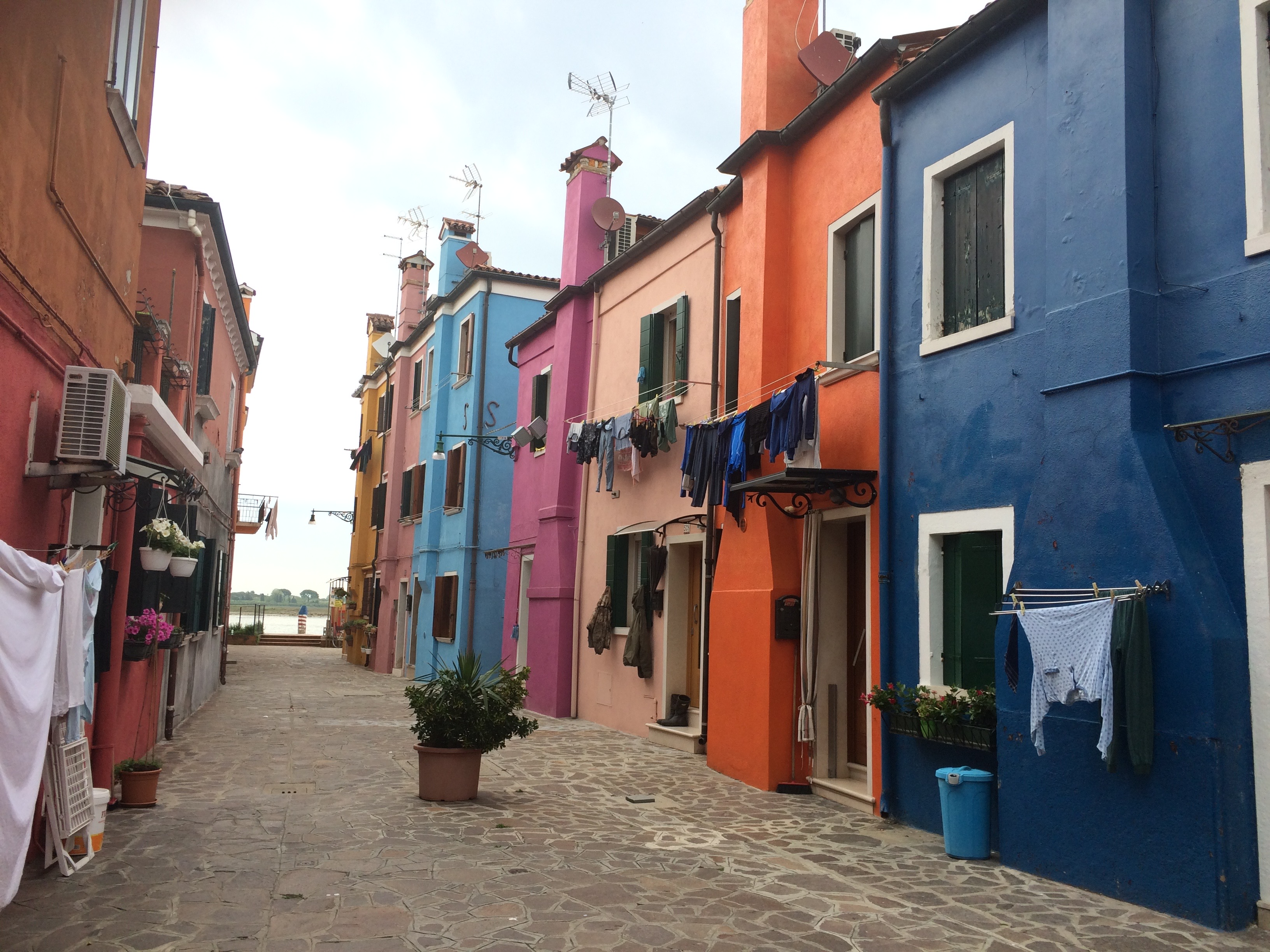 Burano Colourful Streets and washing