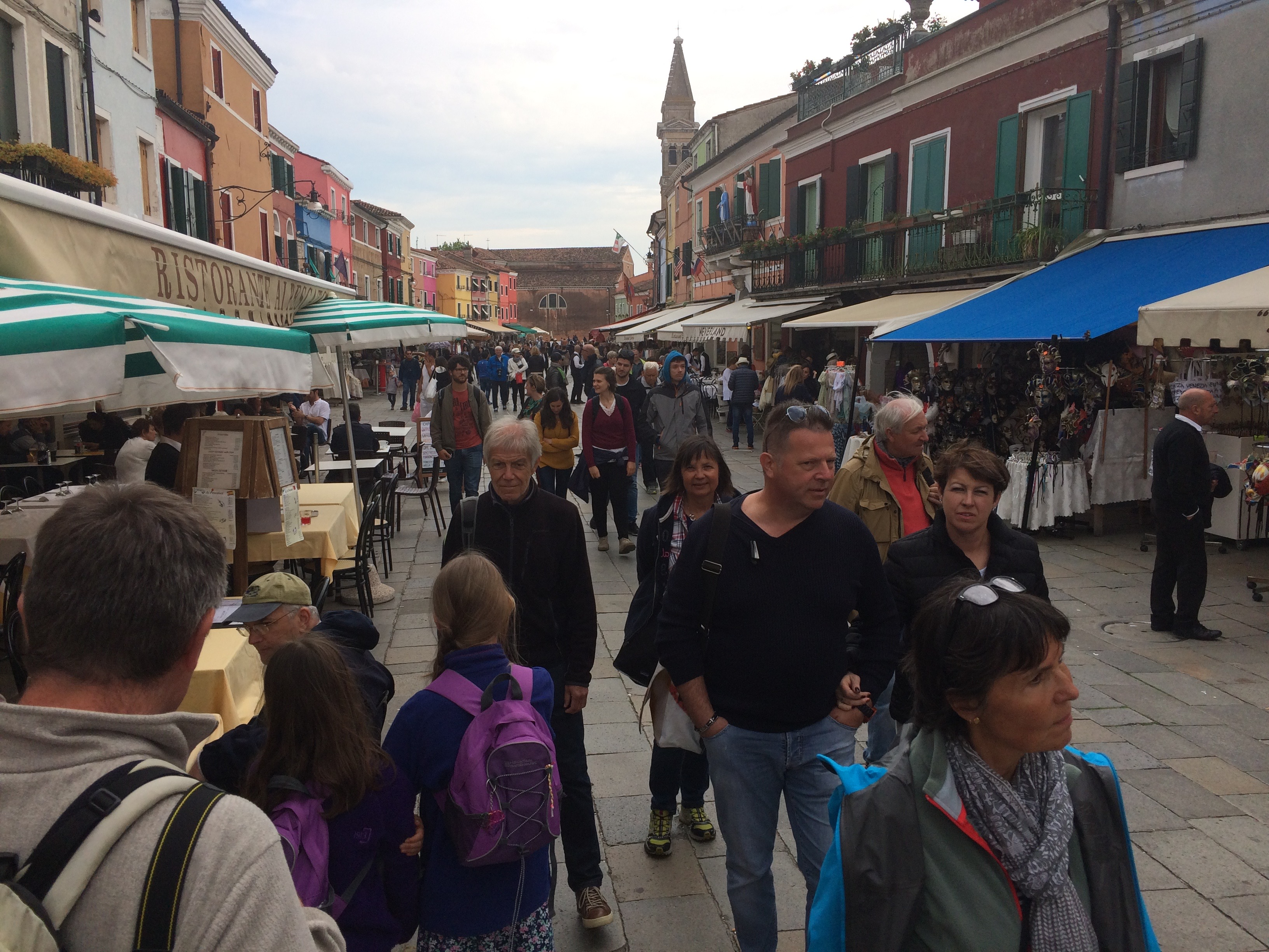 Burano crowds