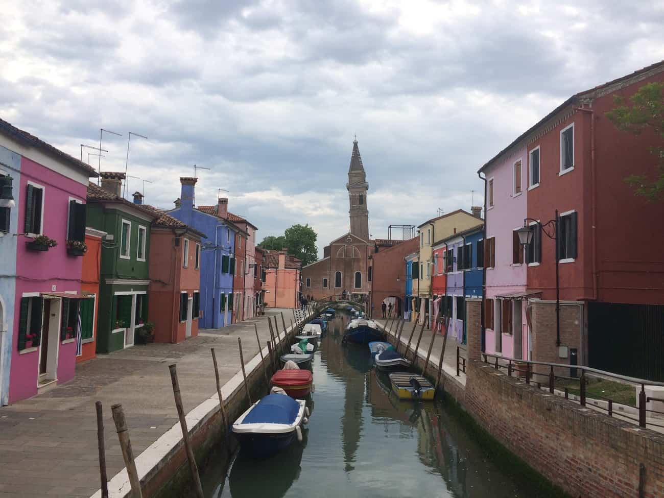 Burano Colourful Streets and Leaning Towerr