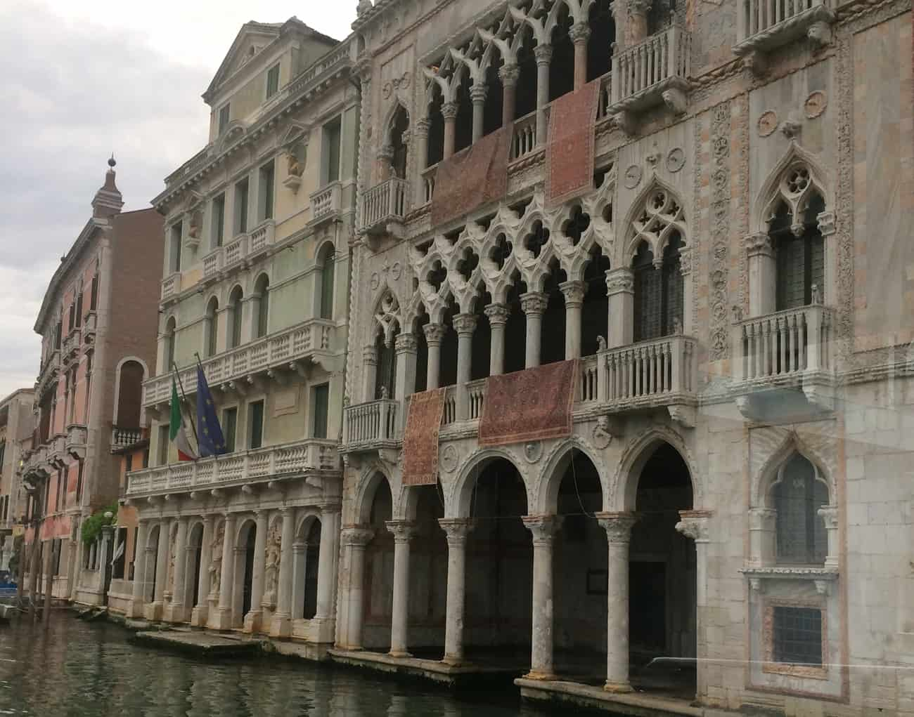 Venice Grand Canal close up palaces