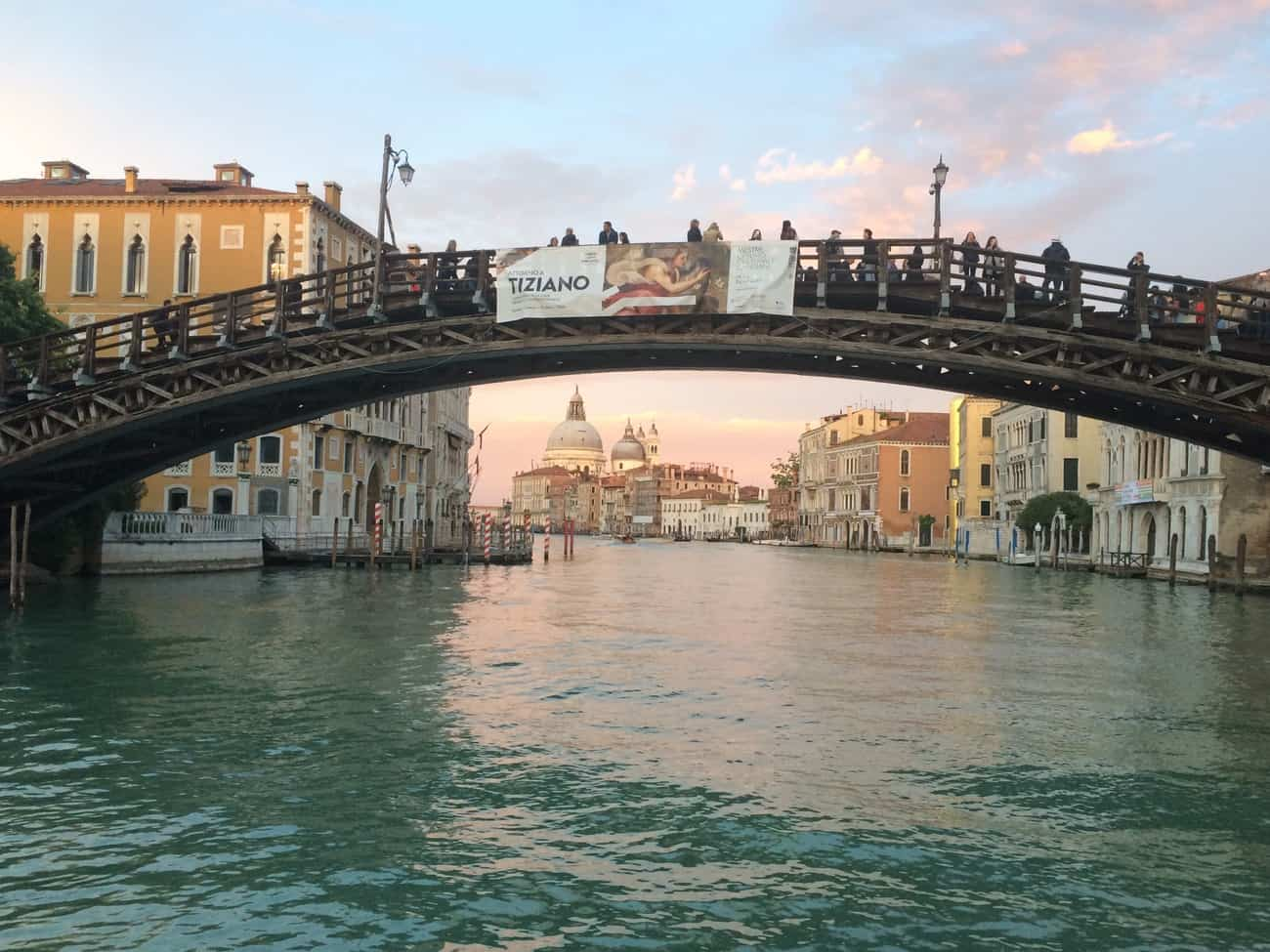 Venice Accademia Bridge at sunset