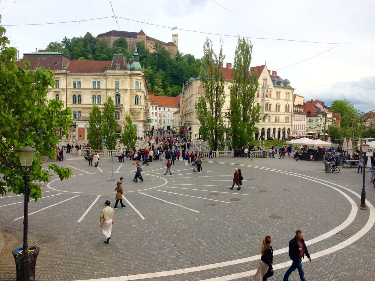 Slovenia Ljubljana Prešernov trg square