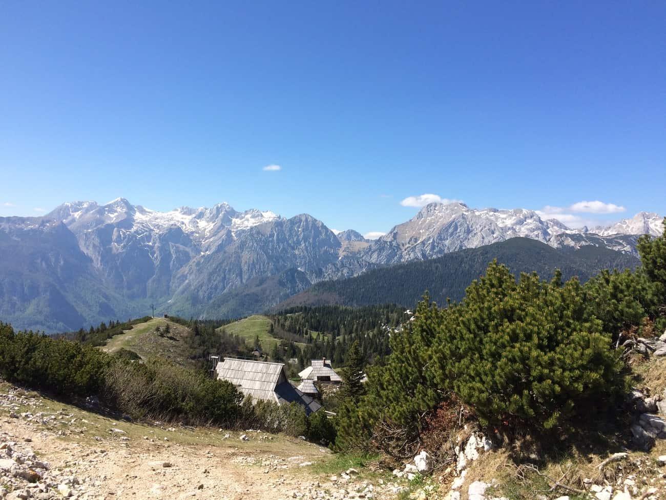 Slovenia Velika Planina View of Kamnik Alps