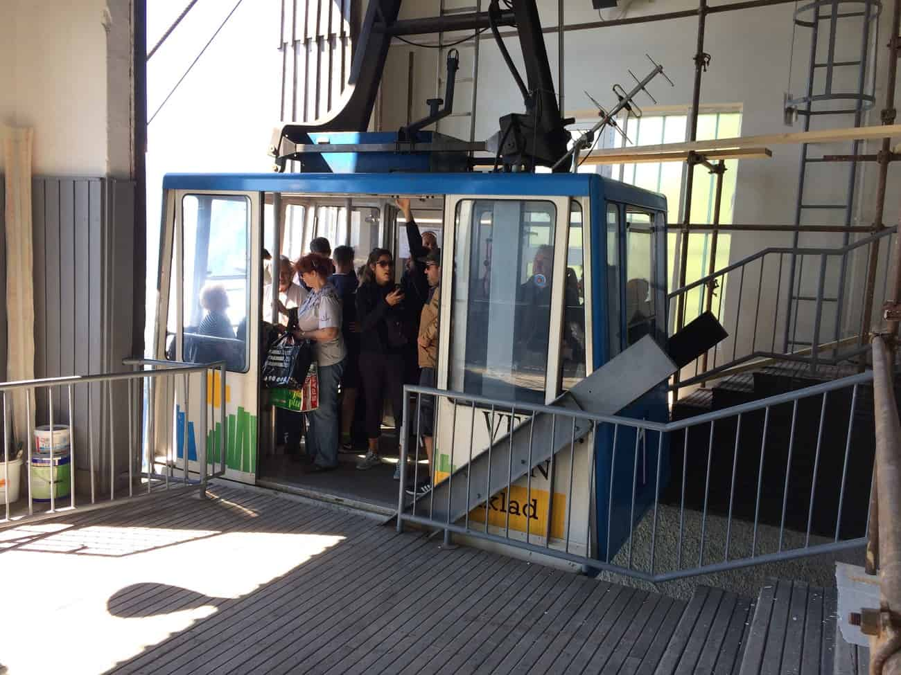 Slovenia Velika Planina Upper Cable Car station