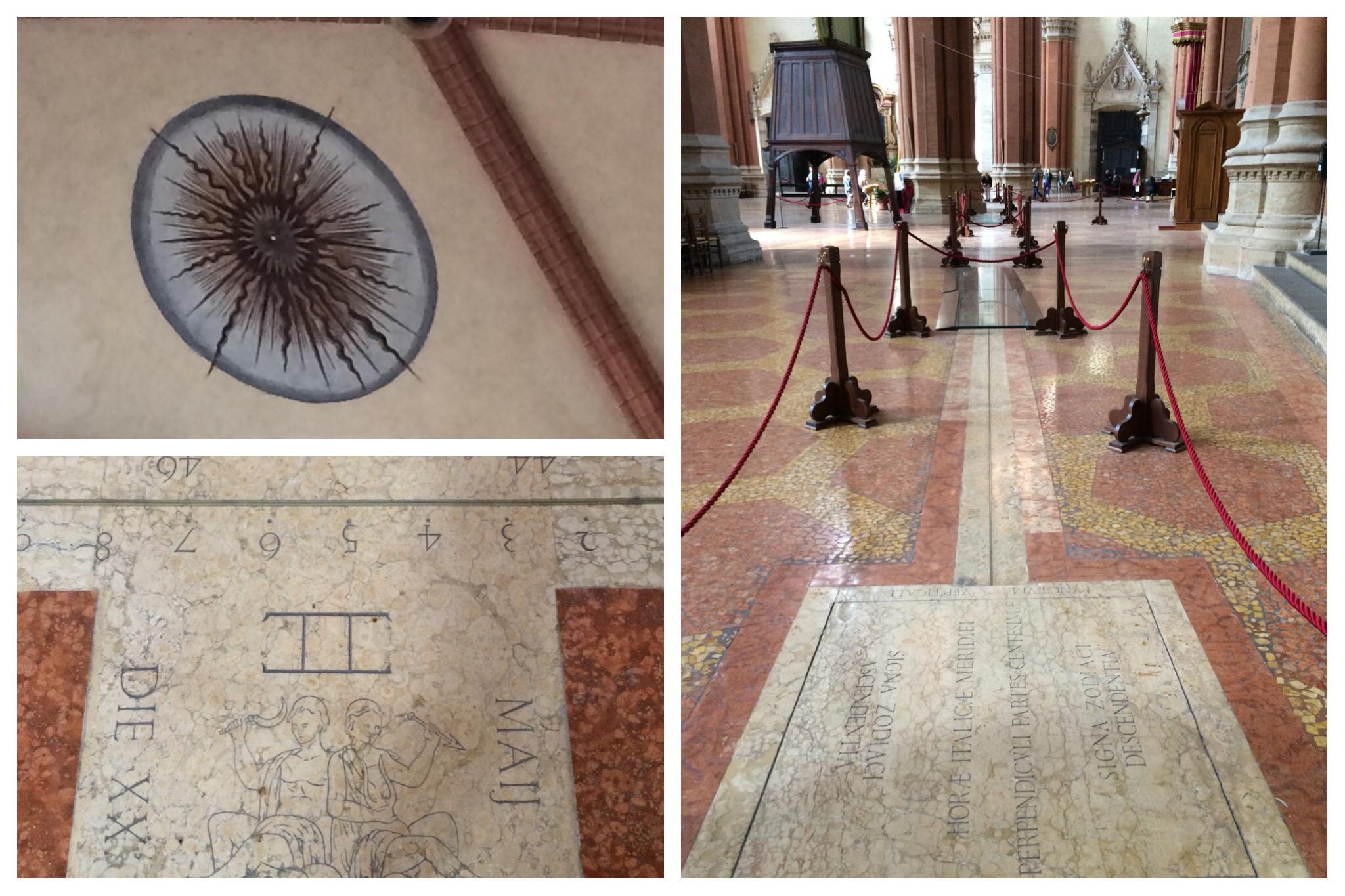 Bologna - San Petronio cathedral Cassini meridian line sundial
