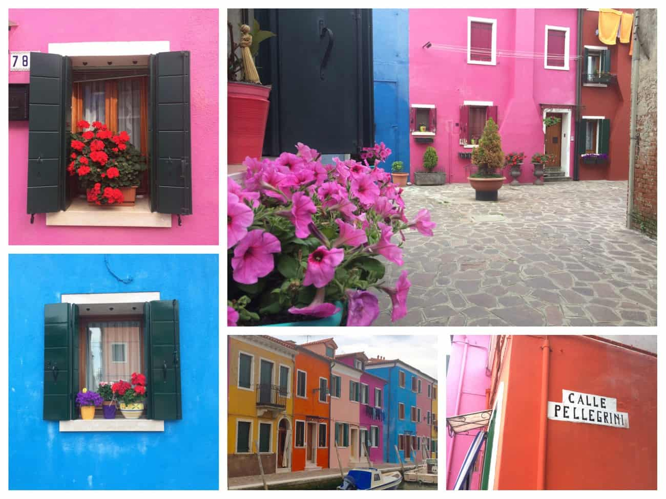 Burano Colourful Montage