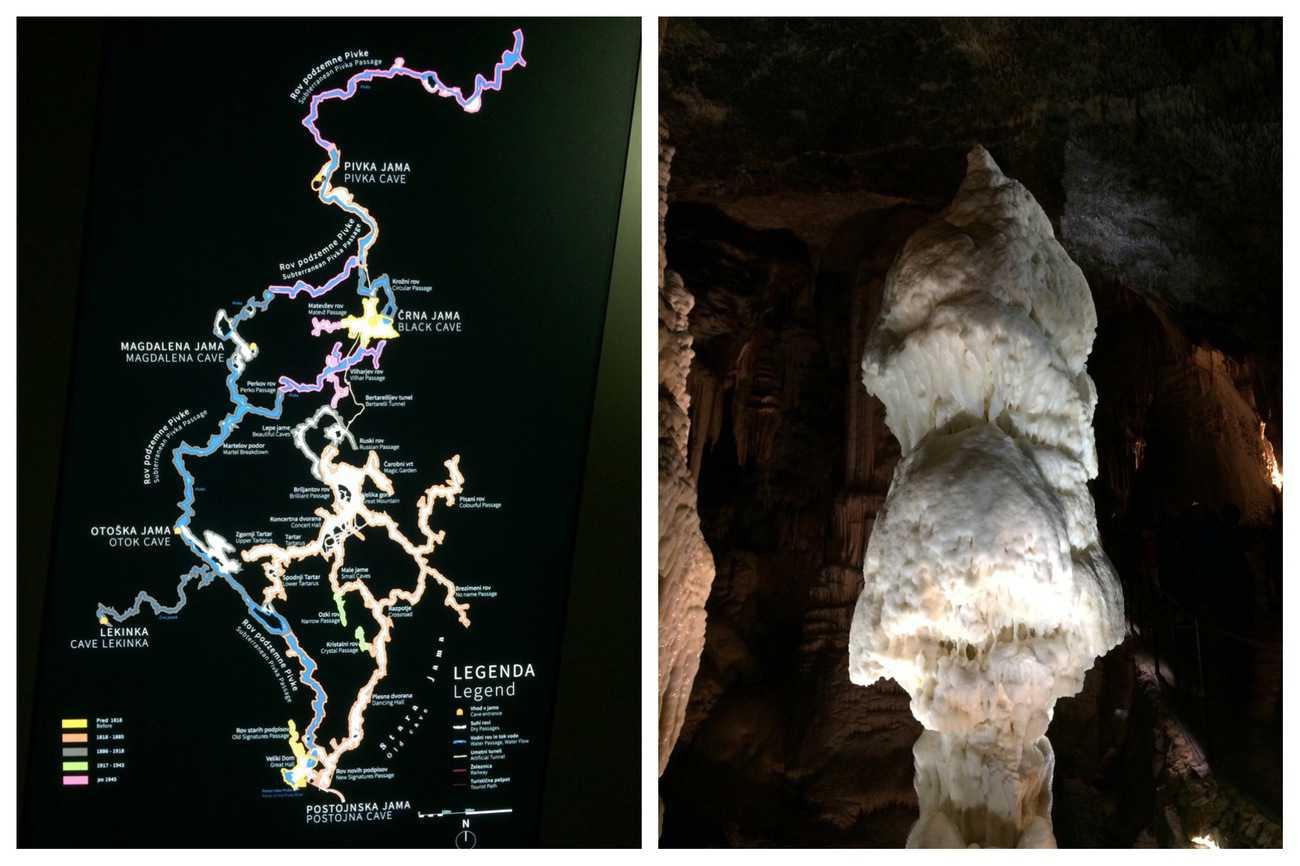 Slovenia Postojna Caves Brilliant stalagmite
