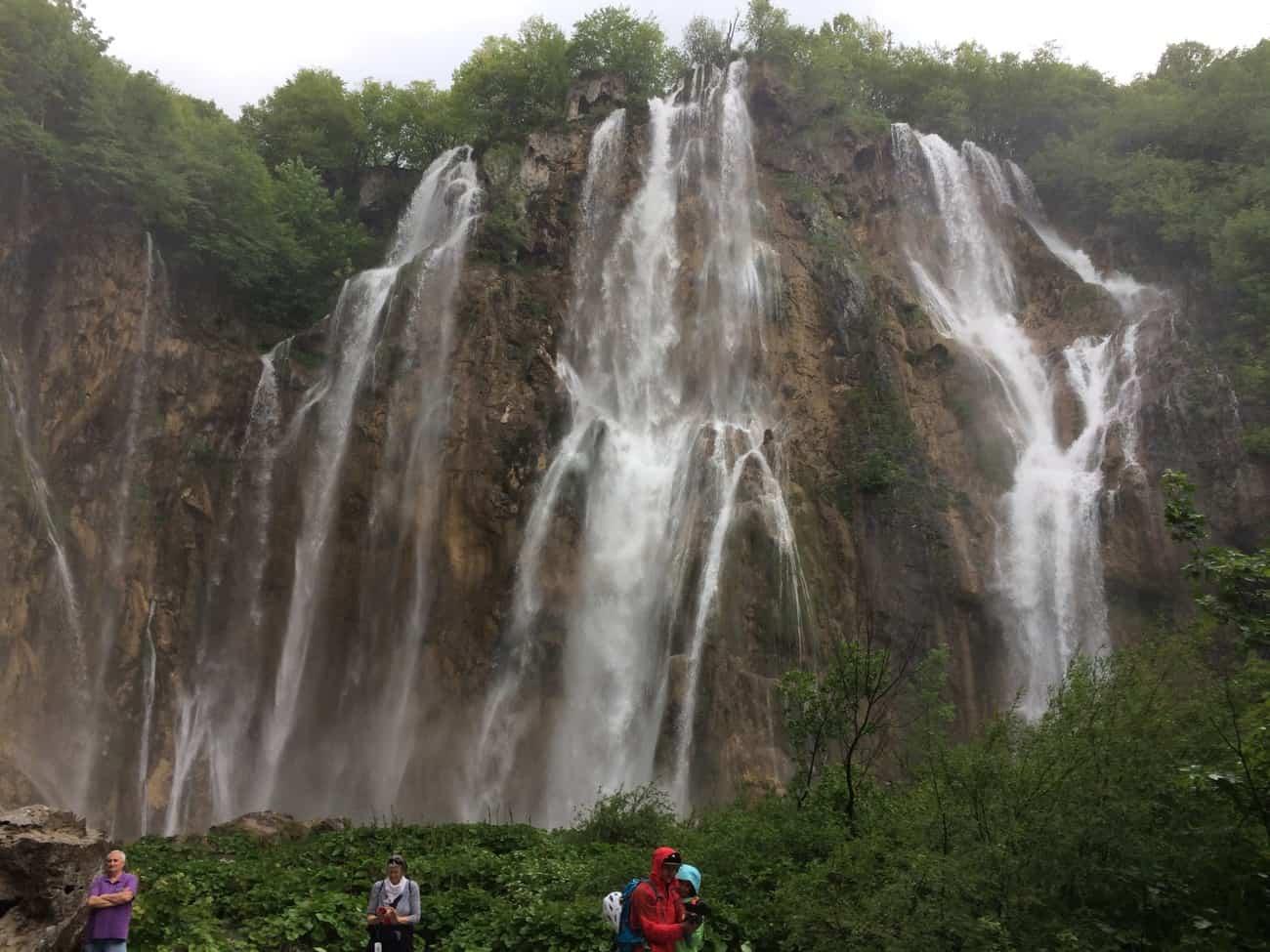 Croatia Plitviče Lakes base of Velika Slap Great Waterfall