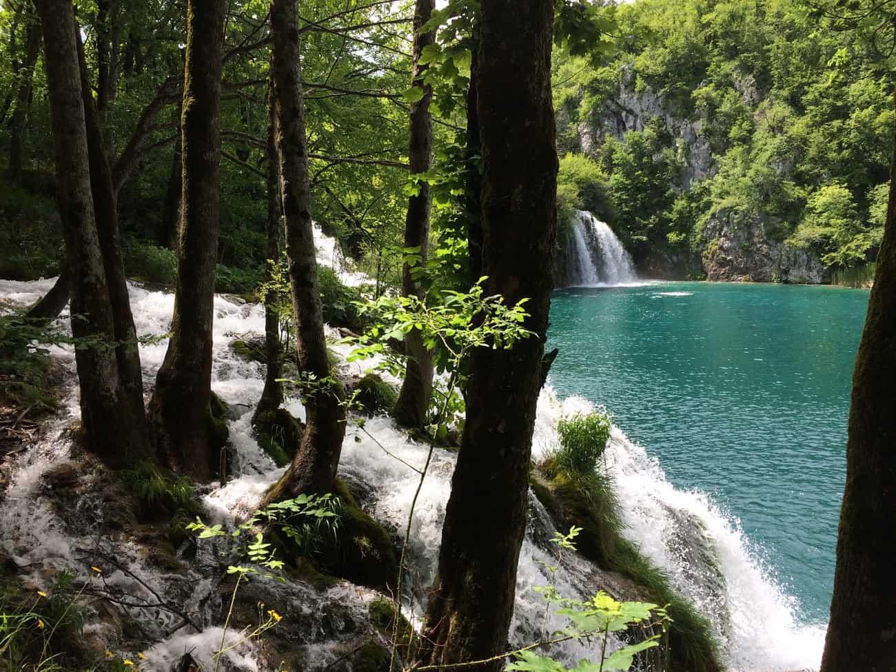 Croatia Plitviče Lakes Milka Trnina's falls