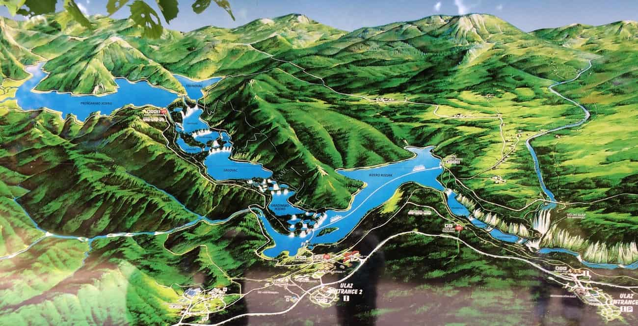 Croatia Plitvice Lakes map
