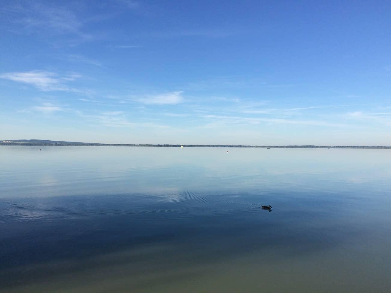 Hungary Lake Balaton flat