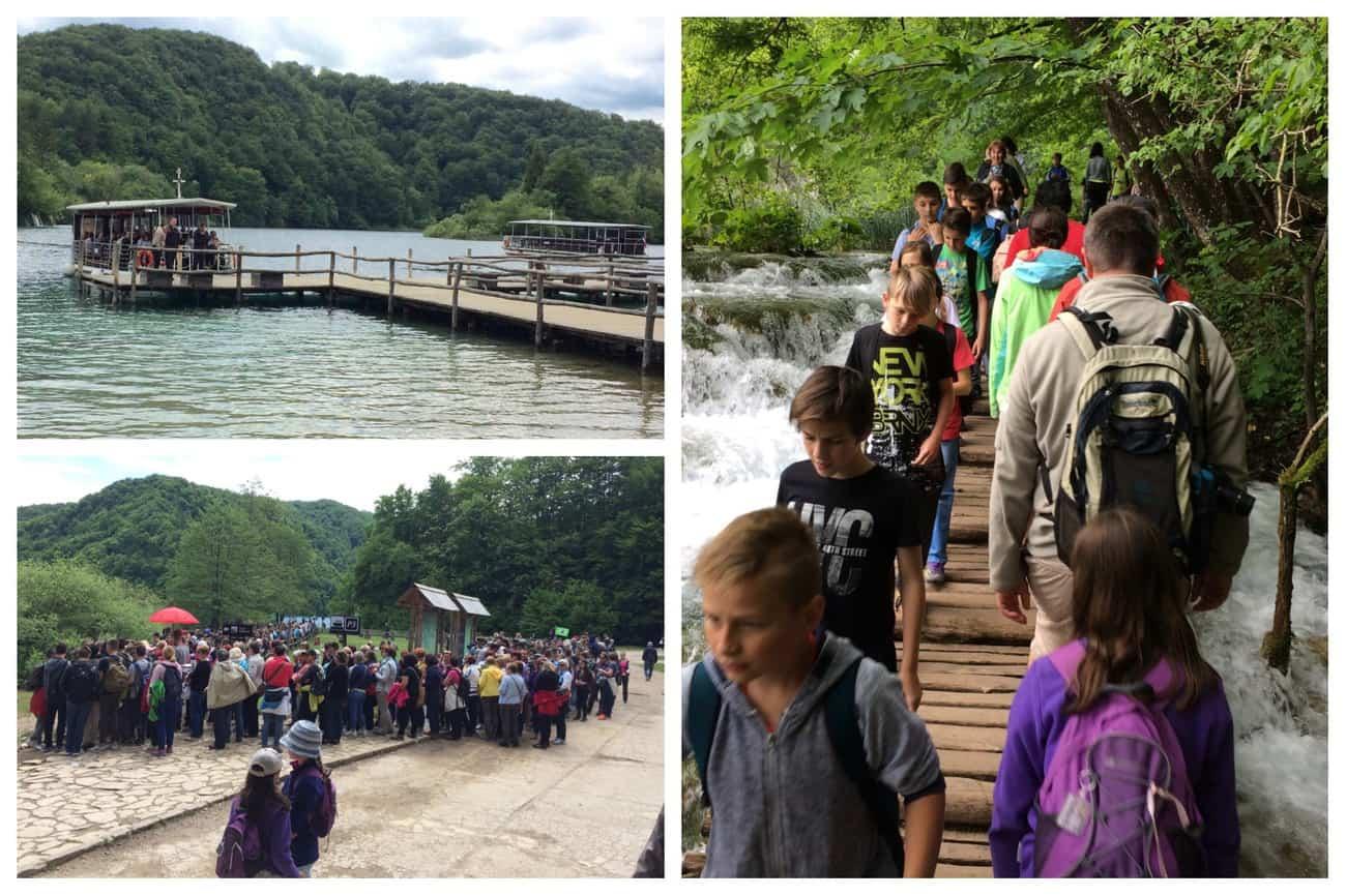 Croatia Plitvice Lakes crowds