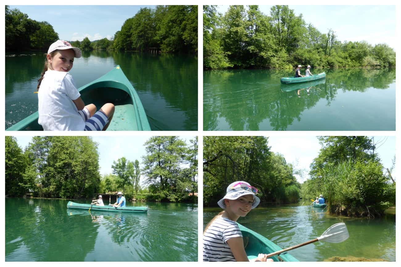 Croatia Canoeing on the Mrežnica River