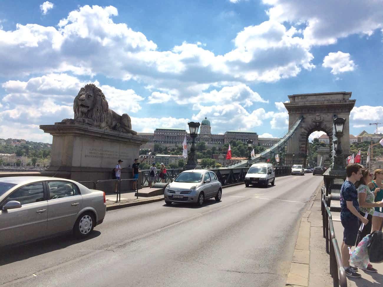 Hungary Budapest Széchenyi Chain Bridge