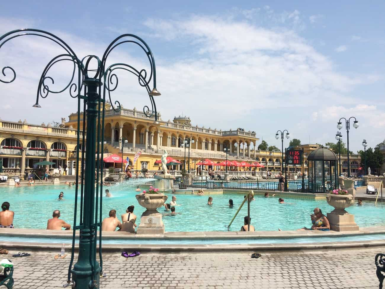 Budapest Széchenyi Baths outdoor thermal pool