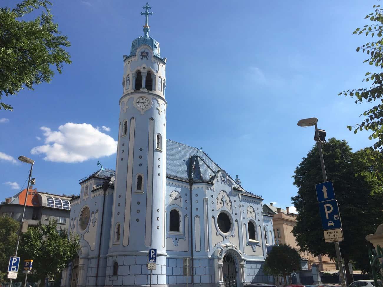 Slovakia Bratislava The Blue Church