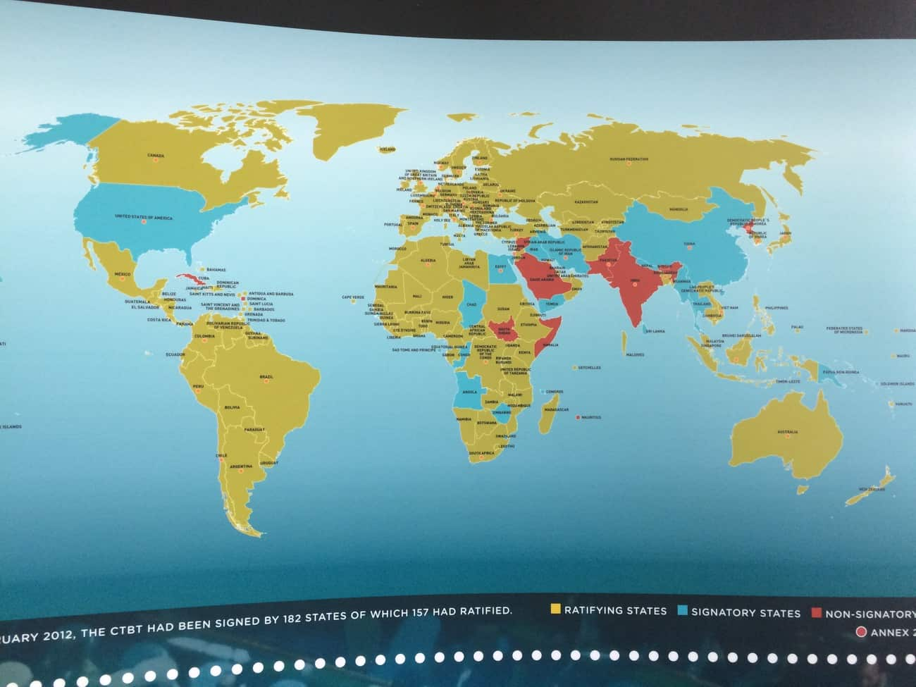 United Nations Vienna Tour CTBT map