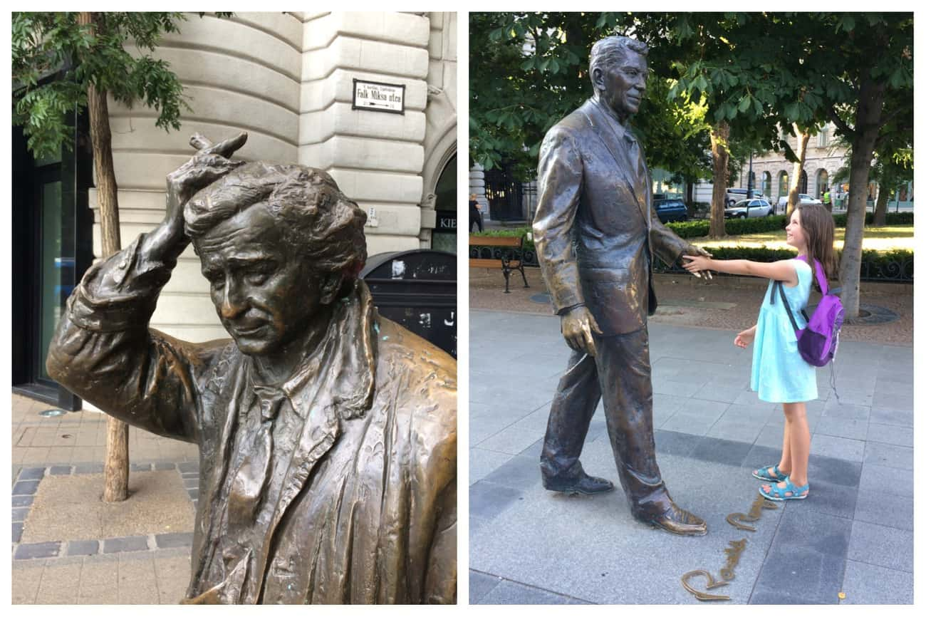 Hungary Budapest Statues Columbo Ronald Reagan