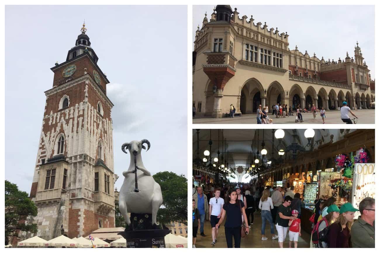 Poland Krakow Town Hall Tower Cloth Market