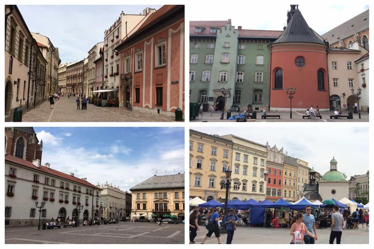 Poland Krakow Colourful Old Town