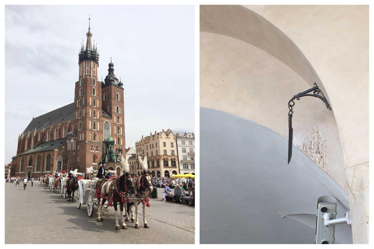 Poland Krakow St Mary's Church Knife Under Arch in Cloth Hall