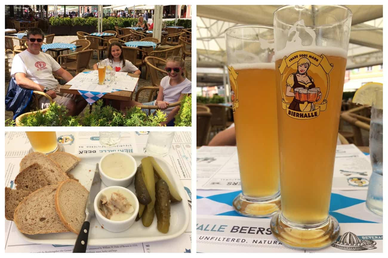 Poland Wroclaw Rynek lunch and beer