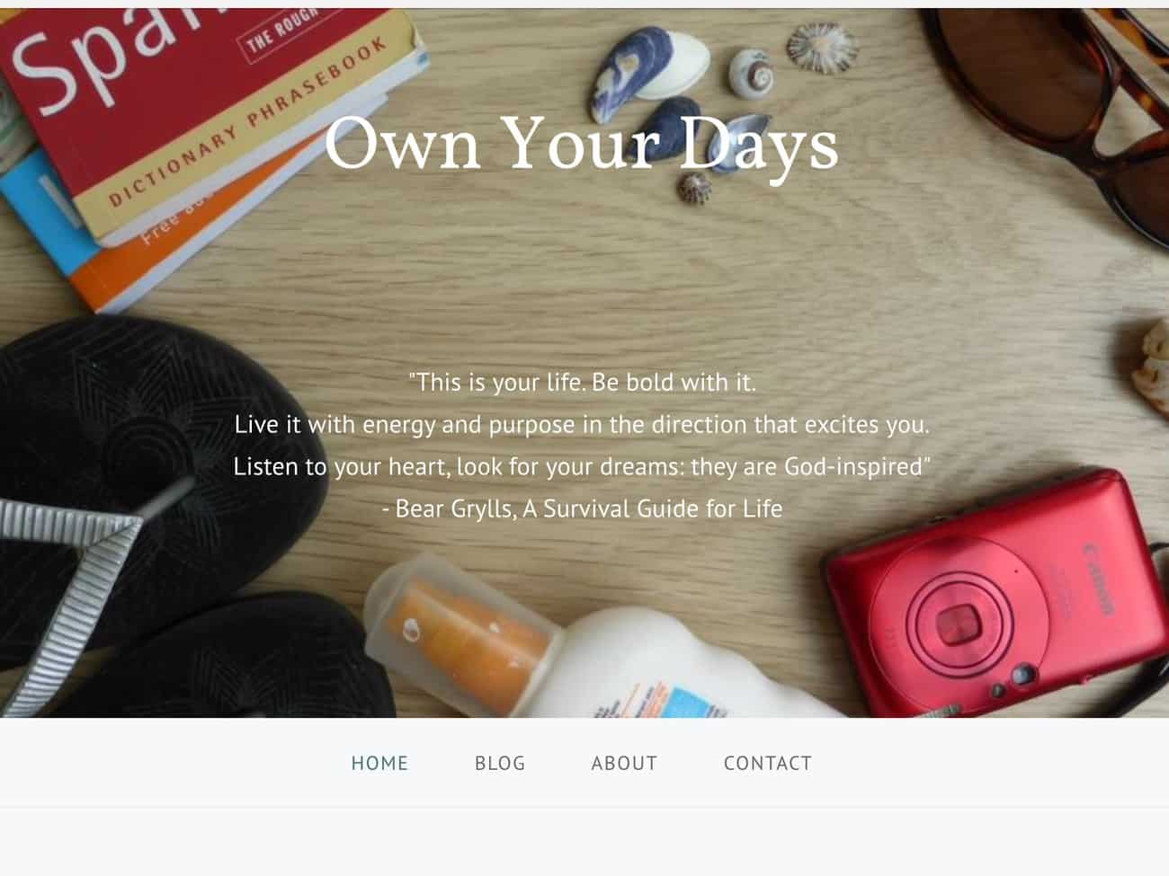 Own Your Days Home Page