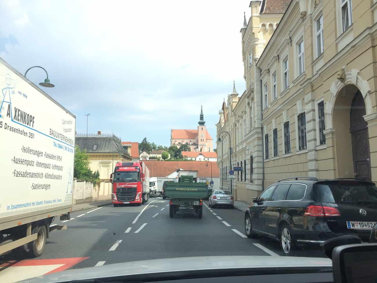Austria to Czech Republic Road Poysdorf