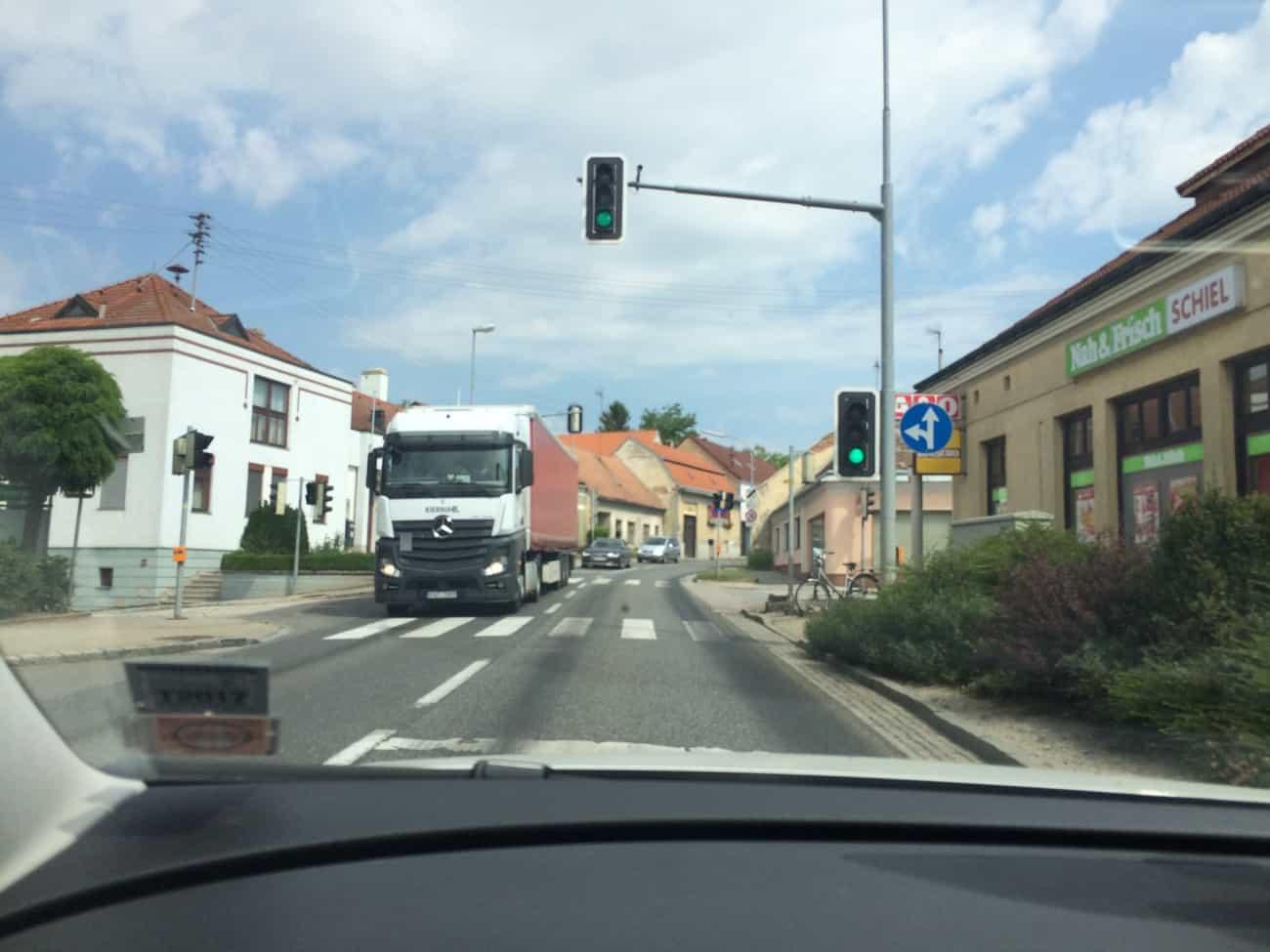Austria to Czech Republic Roads Drasenhofen