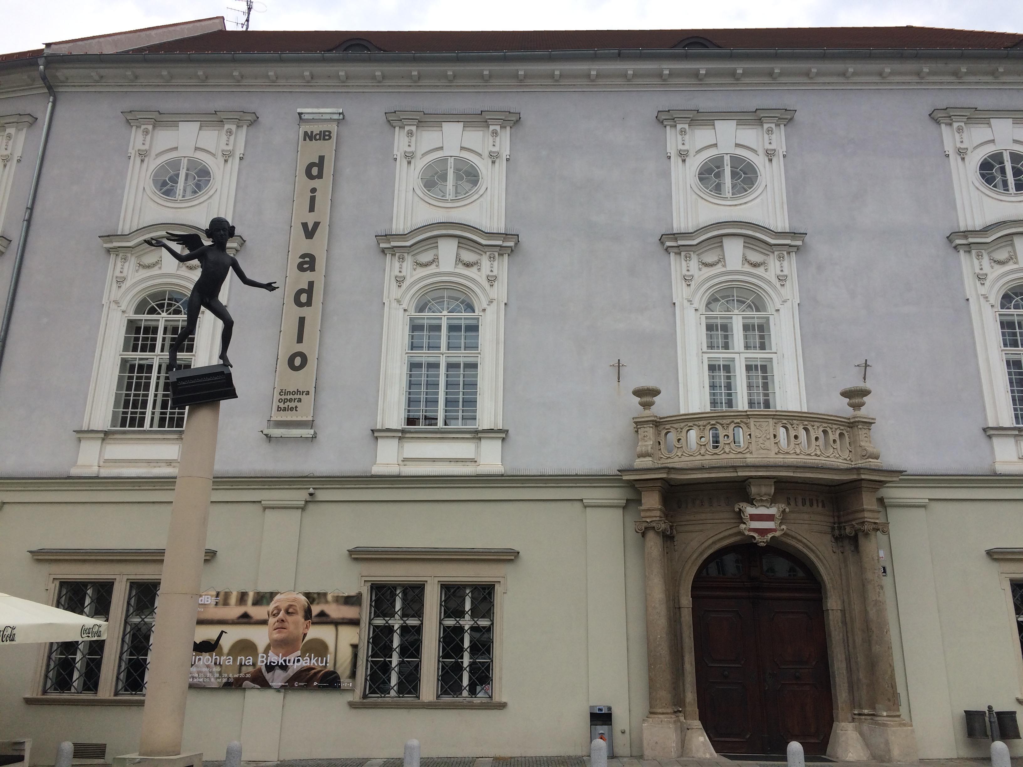 Czech Republic Brno Reduta Theatre Mozart Statue