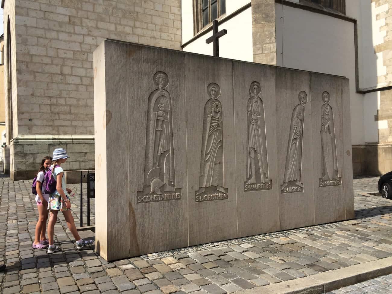 Czech Republic Brno Ossuary Entrance