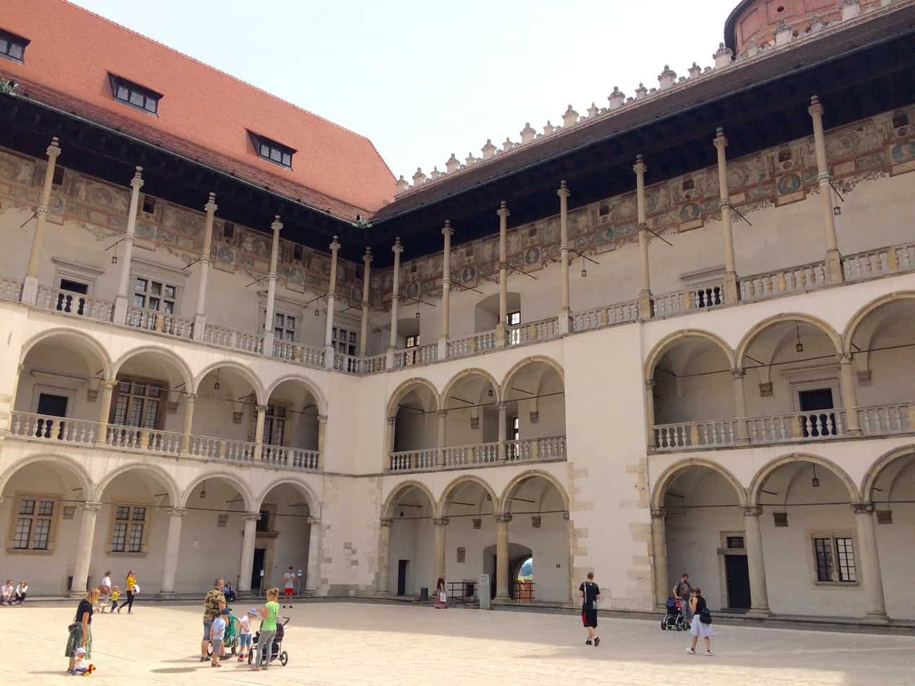 Poland Krakow Wawel Castle Arcaded Courtyard