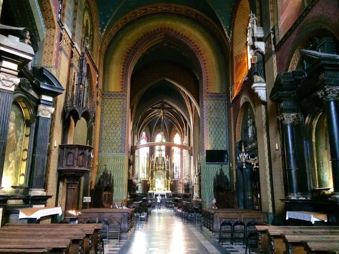 Poland Krakow Franciscan Church Interior Nave