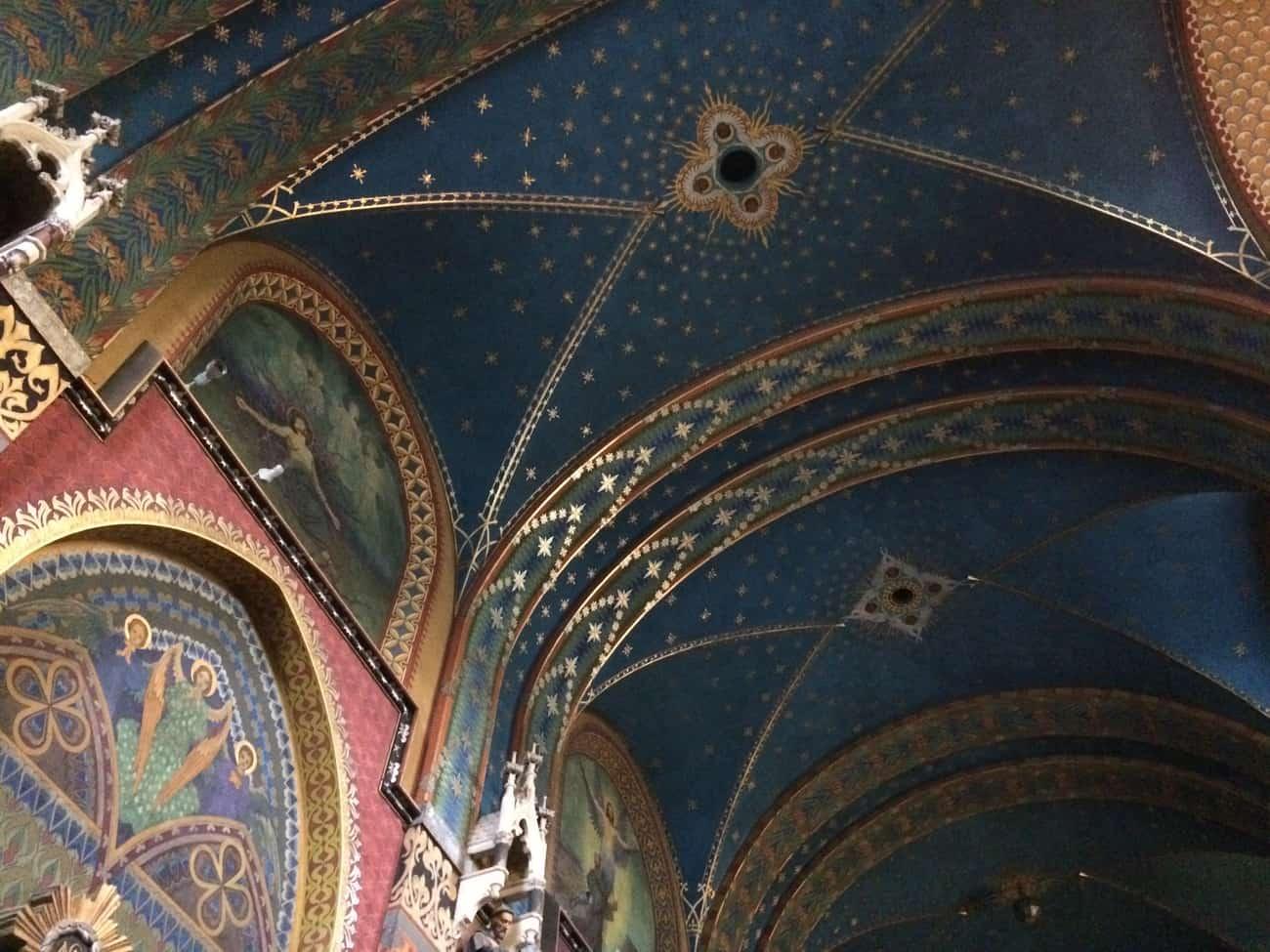 Poland Krakow Franciscan Church Interior Painted Ceiling