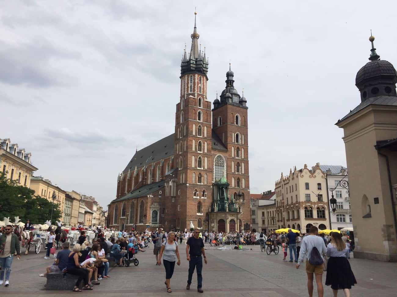 Poland Krakow St Mary's Church Rynek Glówny