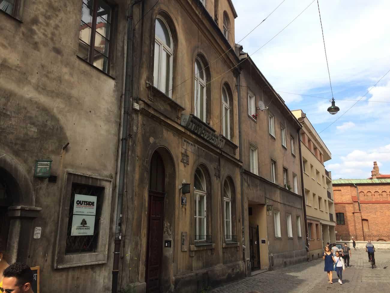 Poland Krakow Kazimierz Józefa Jewish Building