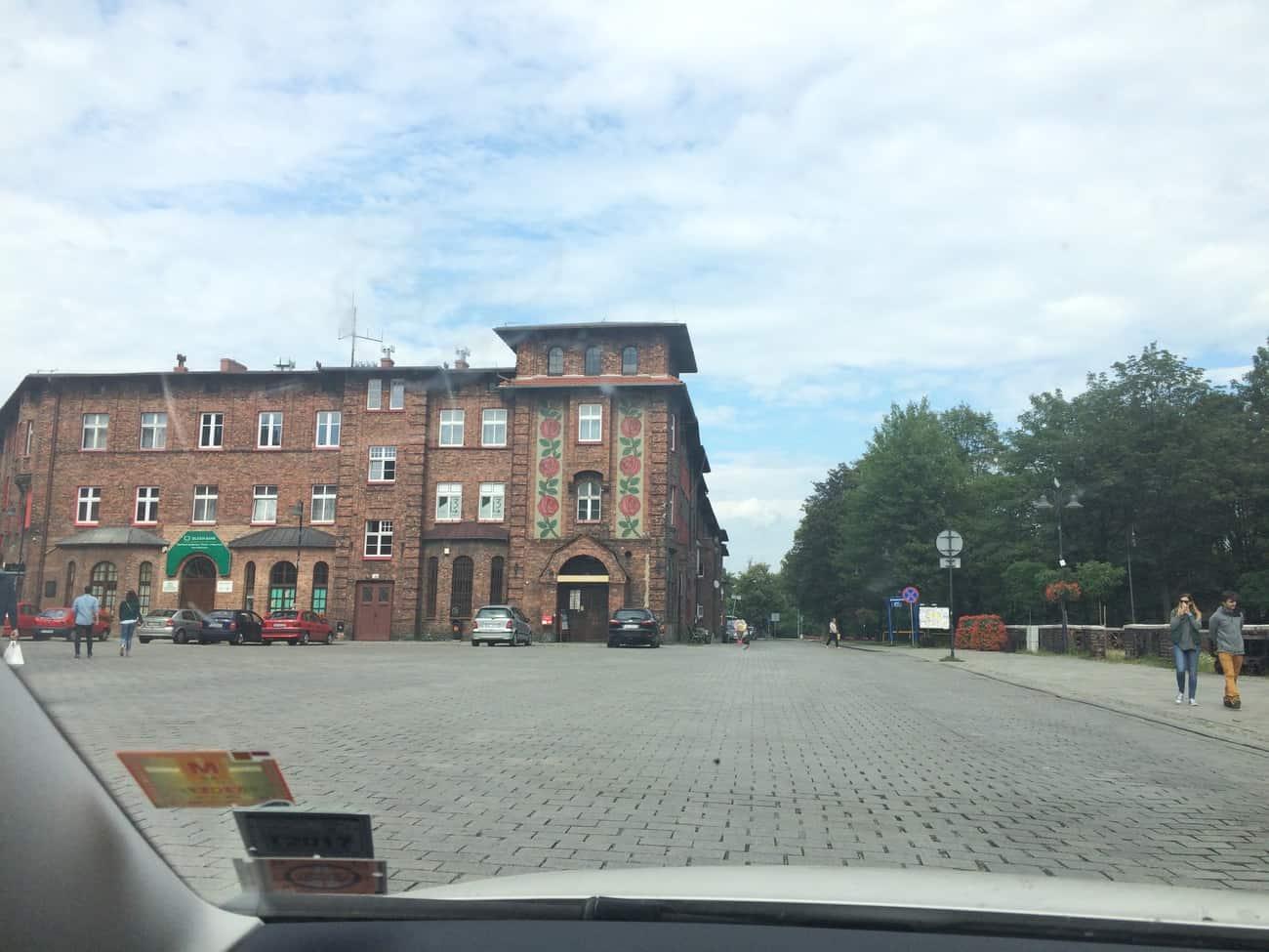 Poland Katowice Nikiszowiec square