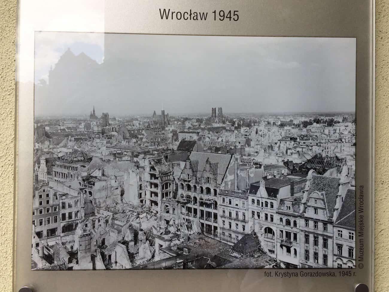 Poland Wroclaw WWII bomb damage